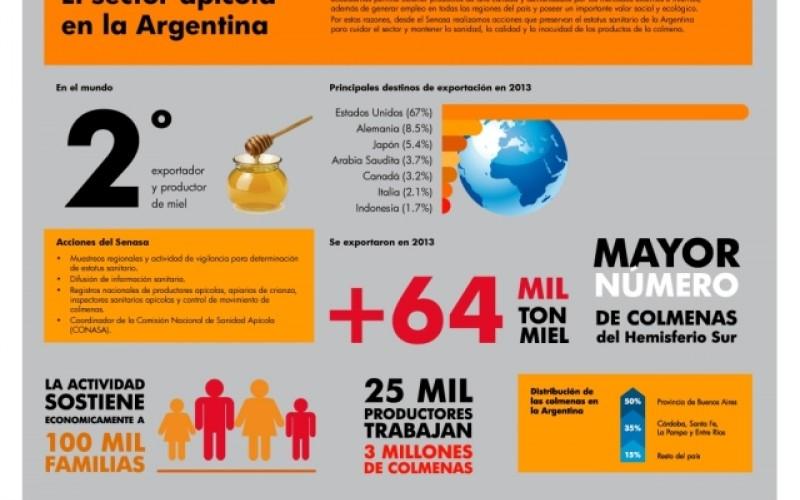 Miel argentina de alta calidad endulza al mundo